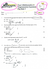 Sec 3 A-Maths Topical test Sept 2014