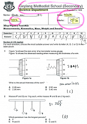 Sec 3 Physics Topical Test 2014